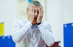 Damjan Novakovic, head coach of Rogaska reacts during basketball match between KK Tajfun and KK Rogaska in 4th Round of Final of Slovenian National Basketball Championship 2014/15, on May 28, 2015 in OS Hrusevec, Sentjur pri Celju, Slovenia. KK Tajfun won 3rd time and became Slovenian National Champion 2015. Photo by Vid Ponikvar / Sportida