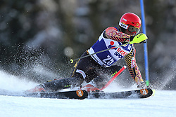 06.01.2014, Stelvio, Bormio, ITA, FIS Weltcup Ski Alpin, Bormio, Slalom, Herren, im Bild Michael Janyk // Michael Janyk  in action during mens Slalom of the Bormio FIS Ski World Cup at the Stelvio in Bormio, Italy on 2014/01/06. EXPA Pictures © 2014, PhotoCredit: EXPA/ Sammy Minkoff<br /> <br /> *****ATTENTION - OUT of GER*****