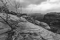 A storm rolls through the Island in the Sky district of Canyonlands National Park in the desert Southwest.