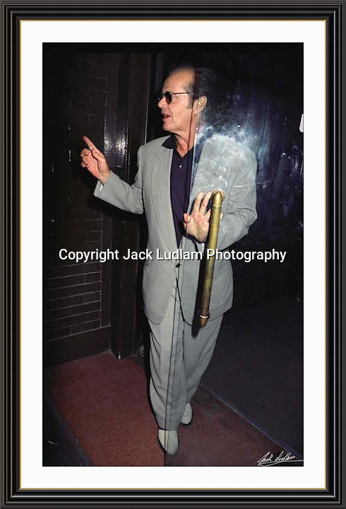 Jack Nicholson London Tramp Mayfair<br /> A3 Museum-quality Archival signed Framed Print