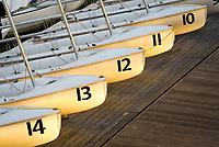Sailing school boats, Annapolis, Maryland, USA.