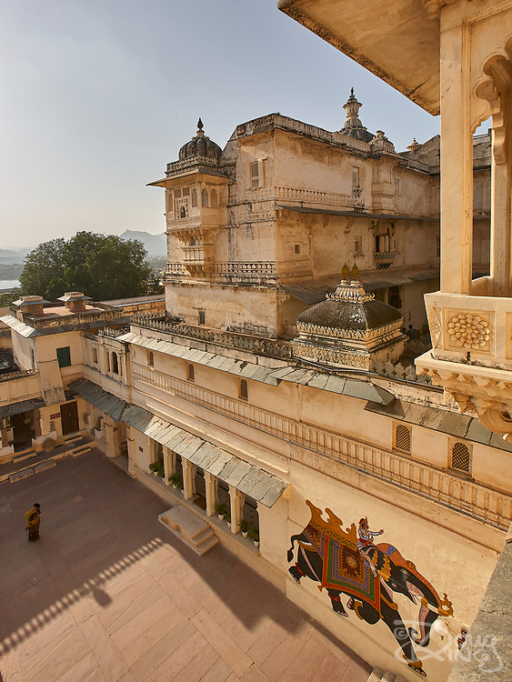 the City Palace in Udaipur, Rajasthan, India <br /> <br /> Editorial & Non-Commercial use only