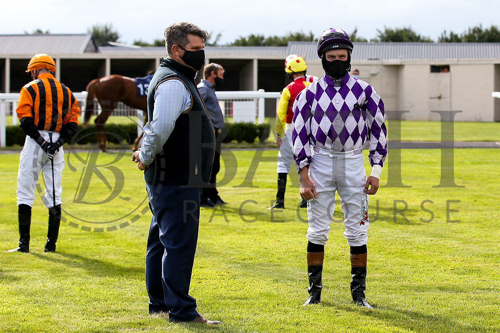 Jockey Finley Marsh - Mandatory by-line: Robbie Stephenson/JMP - 18/07/2020 - HORSE RACING- Bath Racecourse - Bath, England - Bath Races 18/07/20
