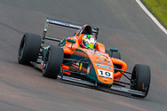 Mariano Martinez (MEX) of Fortec Motorsport exits Butchers during Round 23 of the FIA Formula 4 British Championship at Knockhill Racing Circuit, Dunfermline, Scotland on 15 September 2019.