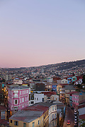 Cityscape at sunset of Valparaiso, Chile