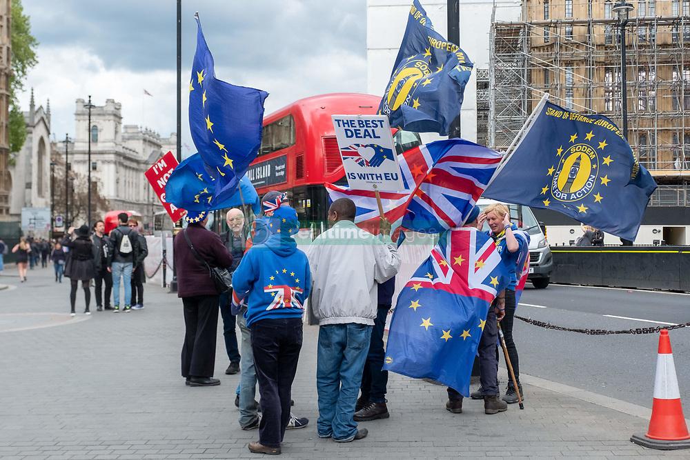 May 2, 2019 - London, United Kingdom - Anti-Brexit Demonstrators outside Houses of Parliament, in London, United Kingdom, on May 2, 2019. (Credit Image: © Robin Pope/NurPhoto via ZUMA Press)