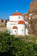 Otrthodox Church of Monemvasia (  ),   Peloponnese, Greece ..<br /> <br /> Visit our GREEK HISTORIC PLACES PHOTO COLLECTIONS for more photos to download or buy as wall art prints https://funkystock.photoshelter.com/gallery-collection/Pictures-Images-of-Greece-Photos-of-Greek-Historic-Landmark-Sites/C0000w6e8OkknEb8 <br /> .<br /> <br /> Visit our MEDIEVAL PHOTO COLLECTIONS for more   photos  to download or buy as prints https://funkystock.photoshelter.com/gallery-collection/Medieval-Middle-Ages-Historic-Places-Arcaeological-Sites-Pictures-Images-of/C0000B5ZA54_WD0s