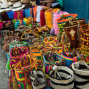 Local crafts for sale in the Old City, Cartagena, Colombia.
