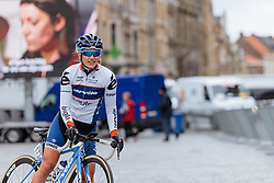 Lotta Lepistö makes her way to the start line in Ieper - Women's Gent Wevelgem 2016, a 115km UCI Women's WorldTour road race from Ieper to Wevelgem, on March 27th, 2016 in Flanders, Belgium.