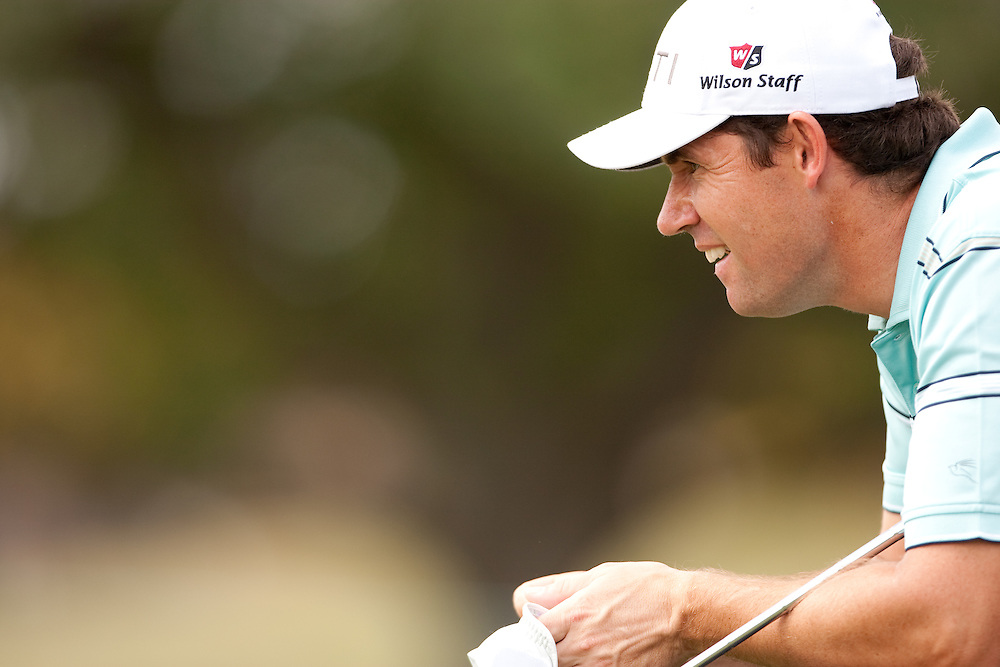 DORAL, FL - MARCH 12:  Padraig Harrington reads the green during the first round of the 2009 WGC-CA Championship at Doral Golf Resort and Spa in Doral, Florida on Thursday, March 12, 2009. (Photograph by Darren Carroll) *** Local Caption *** Padraig Harrington