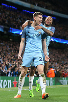 Football - 2016 / 2017 UEFA Champions League - Round of Sixteen, First Leg: Manchester City vs. Monaco<br /> <br /> John Stones of Manchester City celebrates scoring during the match at the Etihad Stadium.<br /> <br /> COLORSPORT