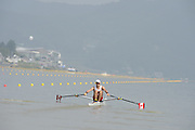 Chungju, South Korea. Sunday Heats, CAN. LM1X. Nicolas PRATT, Moves away from the start on the openingt day of the 2013 FISA World Rowing Championships, Tangeum Lake International Regatta Course. 10:07:11  Sunday  25/08/2013 [Mandatory Credit. Peter Spurrier/Intersport Images]