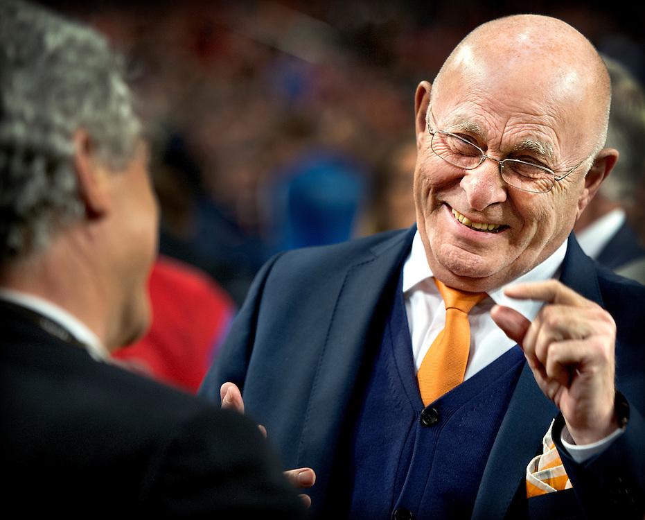 Nederland, Amsterdam, 31-03-2015.<br /> Voetbal, Internationaal, Vriendschappelijk.<br /> Nederland - Spanje : 2-0.<br /> Michael van Praag, een kandidaat voor het FIFA voorzittersschap, voor aanvang van de wedstrijd.<br /> Foto : Klaas Jan van der Weij