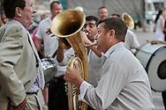 Balkan brass band at a procession in Trogir Croatia