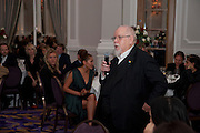 SIR PETER BLAKE, Liberatum 10th Anniversary dinner in honour of Sir Peter Blake. Hosted by Pable Ganguli and Ella Krasner. The Corinthia Hotel, Whitehall. London. 23 November 2011.