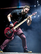 Dean Bernardini , Bass with Chevelle performs at Fivepoint Amphitheater in Irvine Ca. on September 16th, 2016