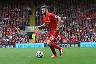 Adam Lallana of Liverpool in action. Premier League match, Liverpool v Hull City at the Anfield stadium in Liverpool, Merseyside on Saturday 24th September 2016.<br /> pic by Chris Stading, Andrew Orchard sports photography.