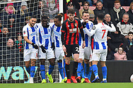 Goal - Yves Bissouma (8) of Brighton and Hove Albion celebrates scoring a goal to give a 0-2 lead to the away team during the The FA Cup 3rd round match between Bournemouth and Brighton and Hove Albion at the Vitality Stadium, Bournemouth, England on 5 January 2019.