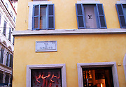 Street Sign 2013. Street sign above the Louis Vuitton store. Via dei Condotti is a busy and fashionable street in Rome.
