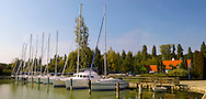 Szigiglet marina and yaucht club , Balaton, Hungary