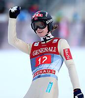 Hopp<br /> FIS World Cup<br /> Garmisch Partenkirchen Tyskland<br /> 01.01.2013<br /> Foto: Gepa/Digitalsport<br /> NORWAY ONLY<br /> <br /> FIS Weltcup der Herren, Vierschanzen-Tournee. Bild zeigt den Jubel von Tom Hilde (NOR).
