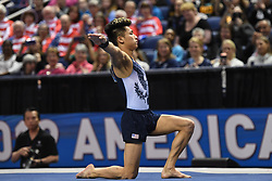 March 2, 2019 - Greensboro, North Carolina, US - YUL MOLDAUER competes on the floor exercise at the Greensboro Coliseum in Greensboro, North Carolina. (Credit Image: © Amy Sanderson/ZUMA Wire)