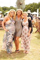 Asprey World Class Cup polo held at Hurtwood Park Polo Club, Ewhurst, Surrey on 17th July 2010.<br /> Picture shows:- Left to right, CASEY JONES, JAYNE JONES and ERIN JONES