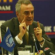 Turkish Soccer...<br /> Turkish Soccer Super League Galatasaray team president Ozhan Canaydin. Kalyon Otel Istanbul/Turkey<br /> Photo by Aykut AKICI/TurkSporFoto