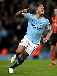 Manchester City's Gabriel Jesus celebrates scoring his side's fourth goal of the game