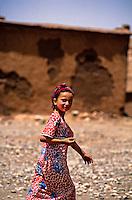 Moroccan girl, Ait-Benhaddou (near Ouarzazate), Morocco