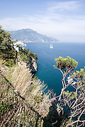 cliff rock formation near Sorrento, Campania, Italy