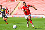 Mamadou Thiam of Barnsley (26) in action during the EFL Sky Bet League 1 match between Barnsley and Shrewsbury Town at Oakwell, Barnsley, England on 19 April 2019.