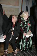 Jean Cook and Gillian Ayres, Royal Academy Annual Dinner. Piccadilly. London. 5 June 2007.  -DO NOT ARCHIVE-© Copyright Photograph by Dafydd Jones. 248 Clapham Rd. London SW9 0PZ. Tel 0207 820 0771. www.dafjones.com.