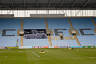 Tribute to Jimmy Hill in the Ricoh Arena during the Sky Bet League 1 match between Coventry City and Bury at the Ricoh Arena, Coventry, England on 13 February 2016. Photo by Dennis Goodwin.