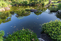 Sanyo-so Japanese garden, designed by renowned Kyoto craftsman Jihei Ogawa beautifully reflects four seasons: weeping cherry trees in spring, iris in summer, maple in autumn, as well as Japanese plum in winter. The garden permeates the vast ryokan compound from the original Azumaya building  which is the best place to view the entire garden. The  buildings all reflect traditional Japanese building methods designed by famed architect Togo Murano.