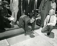 1974 Jack Nicholson's handprint ceremony at Grauman's Chinese Theatre