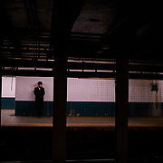 A commuter at the Canal Street Station in Lower Manhattan, New York on Tuesday, January 22, 2019. John Taggart for The New York Times