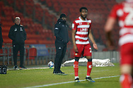 Doncaster's Manager Darren Moore during the EFL Sky Bet League 1 match between Doncaster Rovers and AFC Wimbledon at the Keepmoat Stadium, Doncaster, England on 26 January 2021.