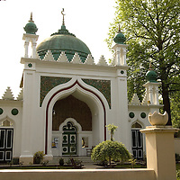 The Shah Jehan Mosque in Woking, Surrey, England, the oldest purpose built mosque in Britain.