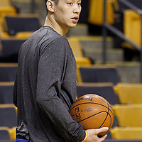 04 March 2012: New York Knicks point guard Jeremy Lin (17) warms up prior to Boston Celtics vs New York Knicks at the TD Garden, Boston, Massachusetts, USA.