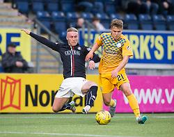 Falkirk's Craig Sibbald and Morton's Andrew Murdoch. Falkirk 0 v 1 Morton, Scottish Championship game played 18/3/2017 at The Falkirk Stadium.
