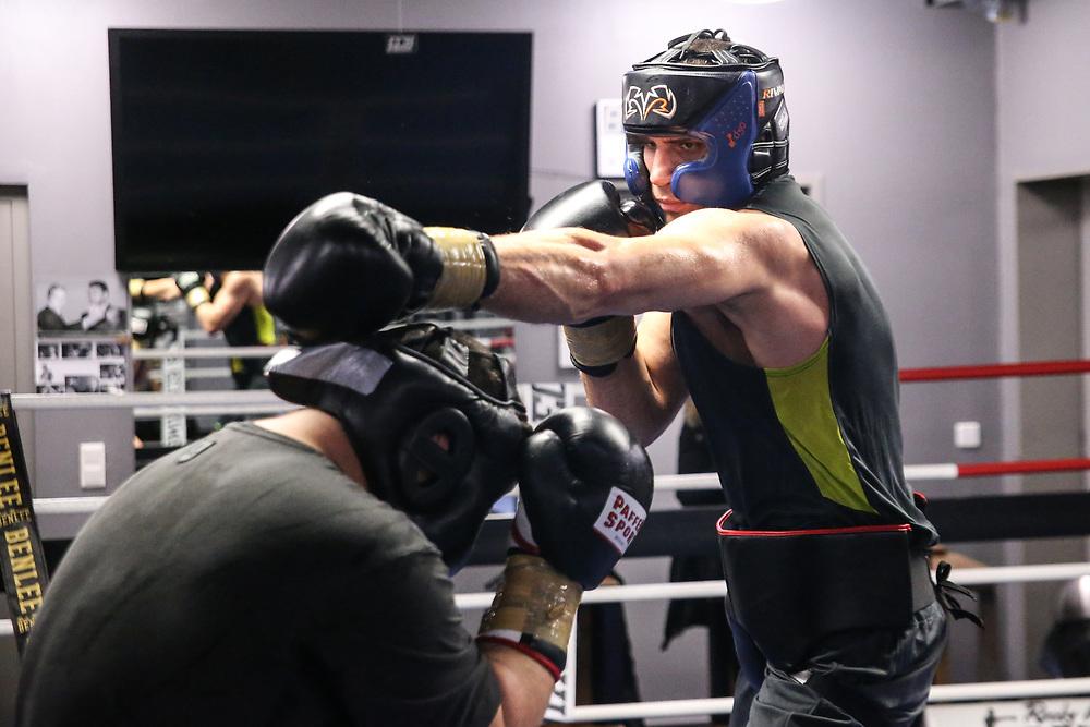 "BOXEN: EC Boxing, Training, Hamburg, 30.01.2020<br /> Victor ""Faust"" Wychrist  (UKR)<br /> © Torsten Helmke"