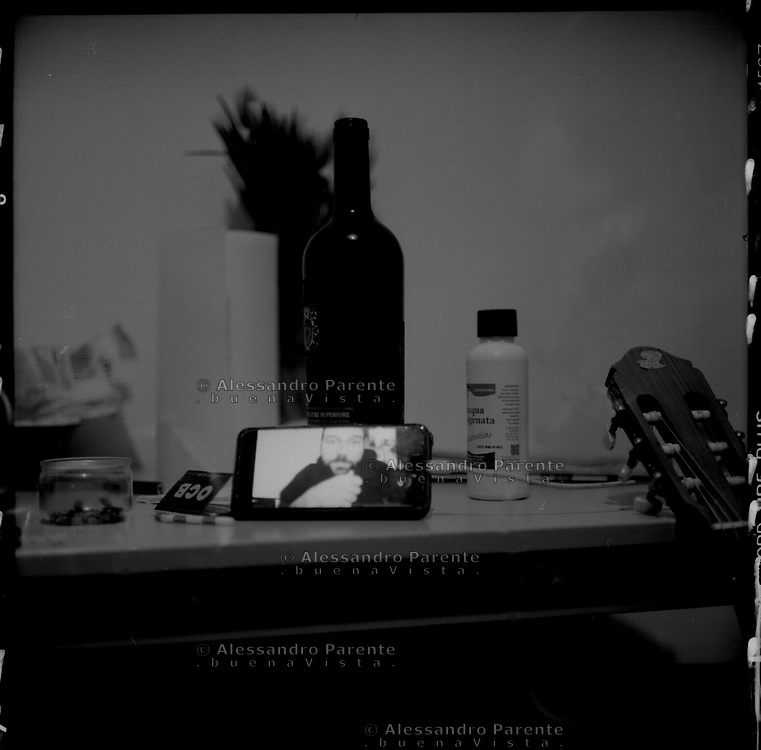 Aubervilliers,Seine Saint Denis. Video call from the apartment.