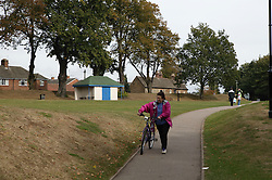 Cutts Close recreation ground in Oakham; County town in ancient Rutland twinned with Barnstedt;,