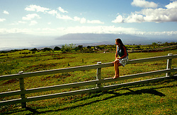 Hawaii, Maui, Silver Cloud Ranch B & B,, model released.  Photo: family104.Photo copyright Lee Foster, 510/549-2202, lee@fostertravel.com, www.fostertravel.com