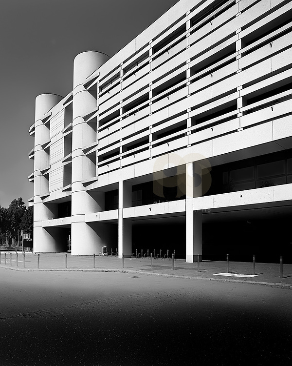 Bologna,Italy, Emilia Romagna: View of exterior building of the Bologna Fair Headquartes by Kenzo Tange arch. Photographs by Alejandro Sala   Visit Shop Images to purchase and download a digital file and explore other Alejandro-Sala images…
