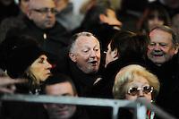 Jean Michel AULAS - 31.01.2015 - Lyon OU / Racing Metro 92 - 17eme journee de Top 14<br />Photo : Jean Paul Thomas / Icon Sport