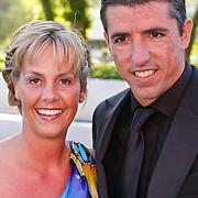 NLD/Hilversum/20100830 - Voetbalgala 2010, Roy Makaay en partner Joyce van Loon