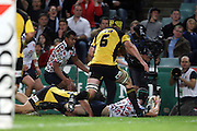 Berrick Barnes looks to pass off the ground. NSW Waratahs v Hurricanes. 2010 Super 14 Rugby Union round 14 match played at the Sydney Football Stadium, Moore Park Australia. Friday 14 May 2010. Photo: Clay Cross/PHOTOSPORT