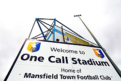 A general view of the One Call Stadium, home to Mansfield Town - Mandatory by-line: Ryan Crockett/JMP - 27/04/2019 - FOOTBALL - One Call Stadium - Mansfield, England - Mansfield Town v Stevenage - Sky Bet League Two